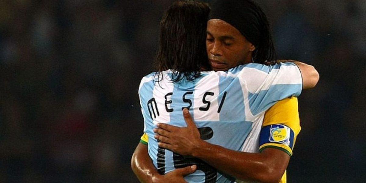 El regalazo que Lionel Messi le envió a Ronaldinho