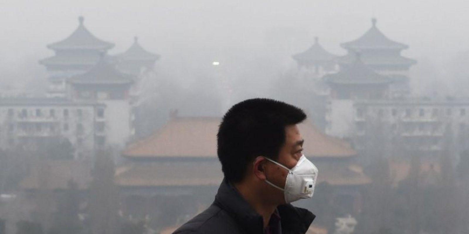 Las autoridades esperan que el esmog disminuya el próximo jueves Foto:AFP