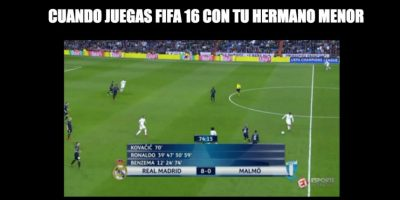 Mientras tanto, Real Madrid humilló por marcador 8-0 al Malmo de Suecia. Foto:Vía twitter.com/troll__football