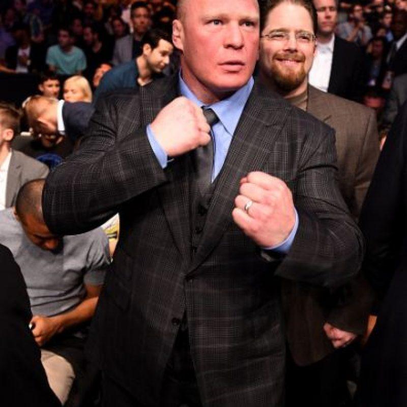 """La última participación de Lesnar en la WWE fue en """"Hell in a Cell"""" el pasado mes de octubre, en donde derrotó a The Undertaker. Foto:Getty Images"""