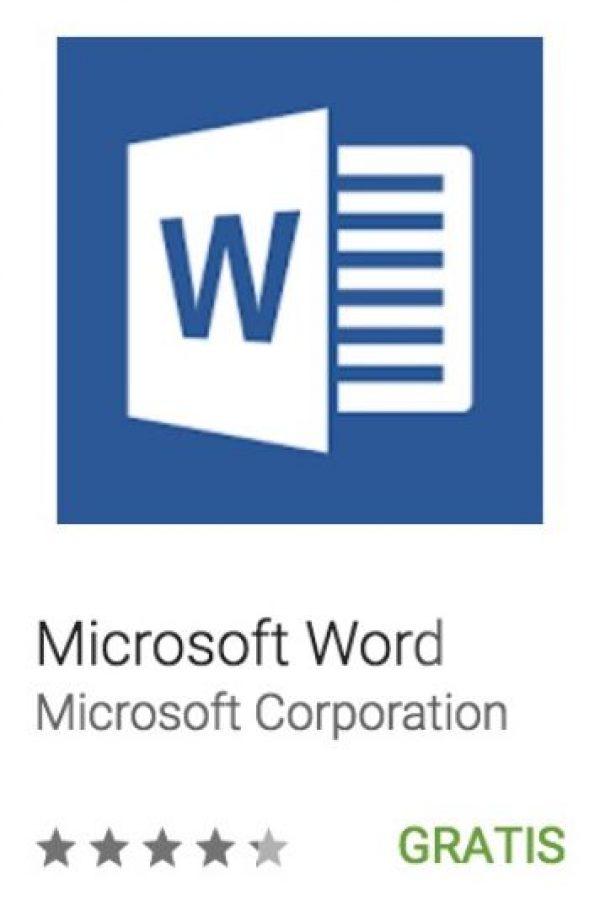 3- Microsoft Word. La versión para móviles del famoso procesador de textos. Foto:vía Google