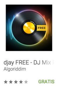13- djay FREE – DJ Mix Remix Music. Pueden mezclar sus canciones favoritas de Spotify o crear su propia música. Foto:vía Google