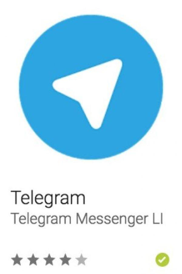 15- Telegram. Es una app de mensajería gratuita en la que pueden crear grupos de chat de hasta 200 personas, compartir videos de hasta 1GB, además de enviar y recibir mensajes de forma segura. Foto:vía Google