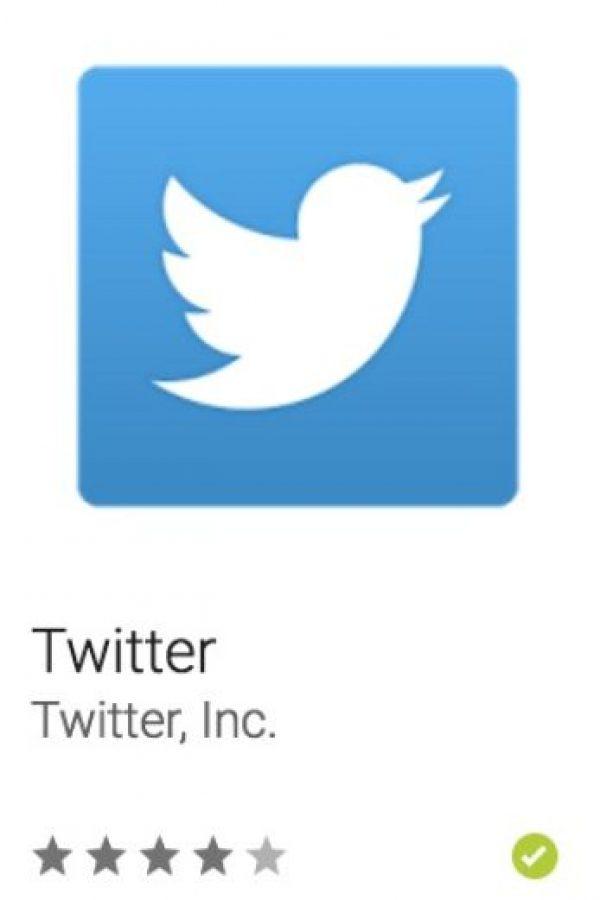 43- Twitter. Permite que se conecten con personas, expresarse, y descubrir más sobre todo lo que les gusta. Foto:vía Google