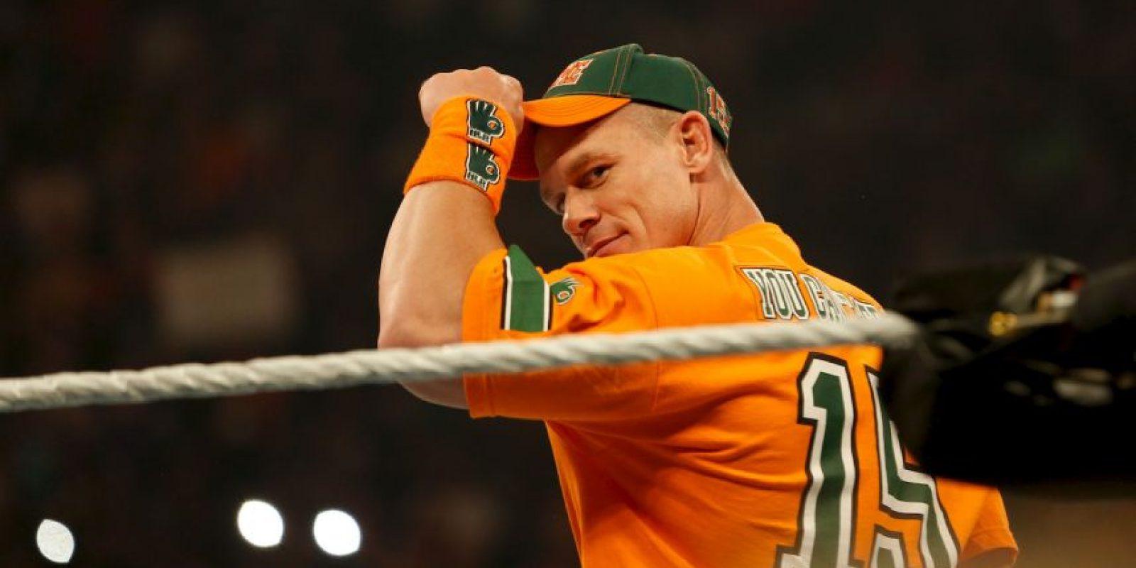 """La última participación de Cena en la WWE este 2015, fue durante """"Hell in a Cell"""", ahí perdió el título de los Estados Unidos ante Alberto del Río, el pasado 25 de octubre. Foto:Getty Images"""