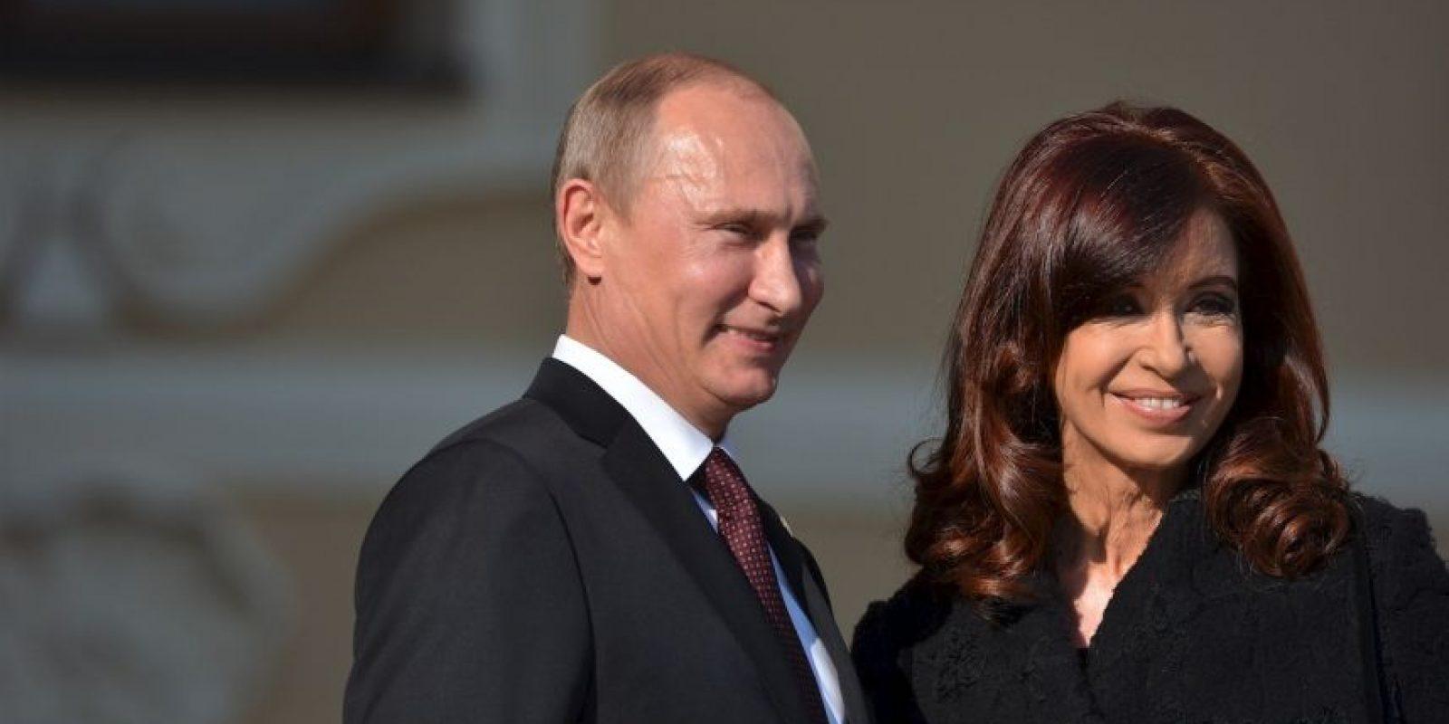 2013, con Vladimir Putin, presidente de Rusia Foto:Getty Images