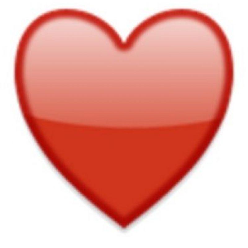 5- Corazón rojo. Foto:vía emojipedia.org