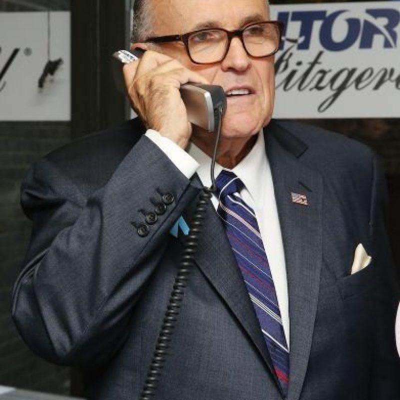 El entonces alcalde de Nueva York fue reconocido por el manejo de la ciudad durante los atentados terroristas del 11 de septiembre. Foto:Getty Images