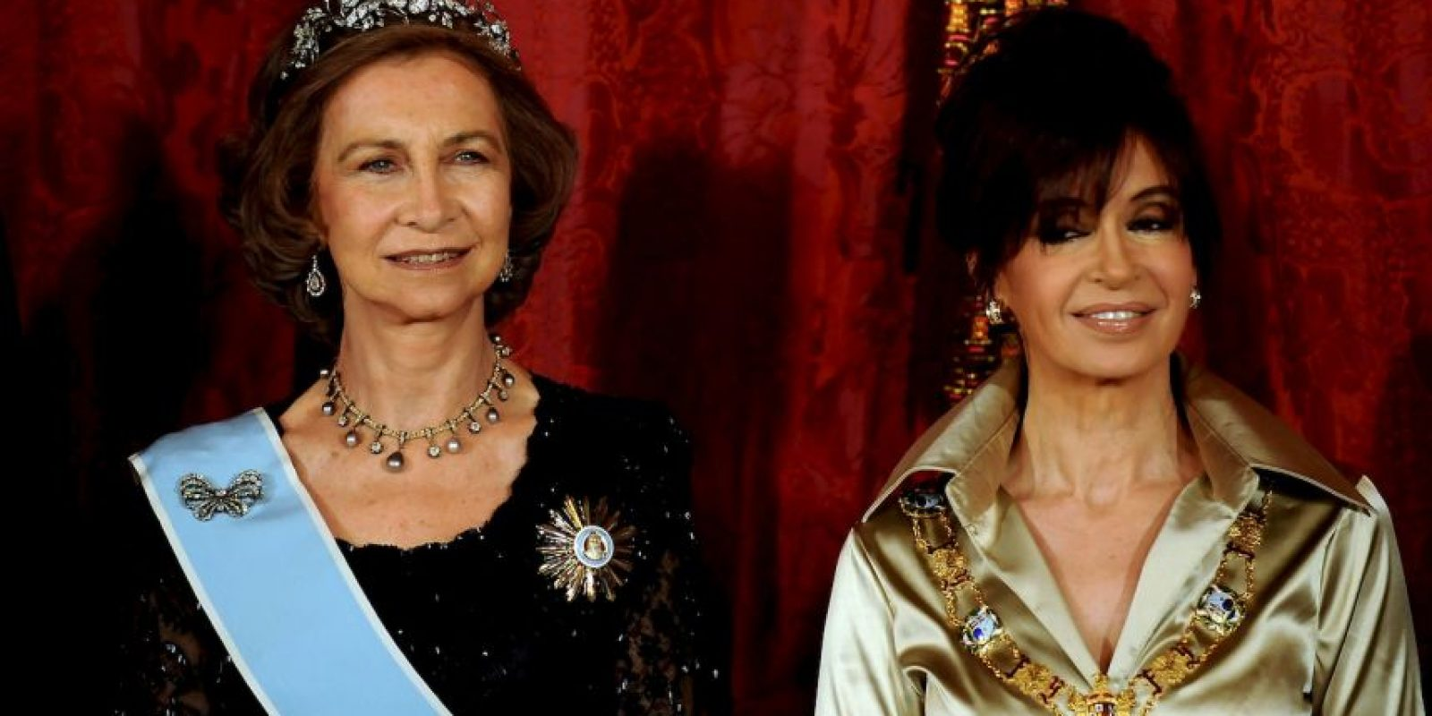 2009, en cena de honor con la Reina Sofía de España Foto:Getty Images