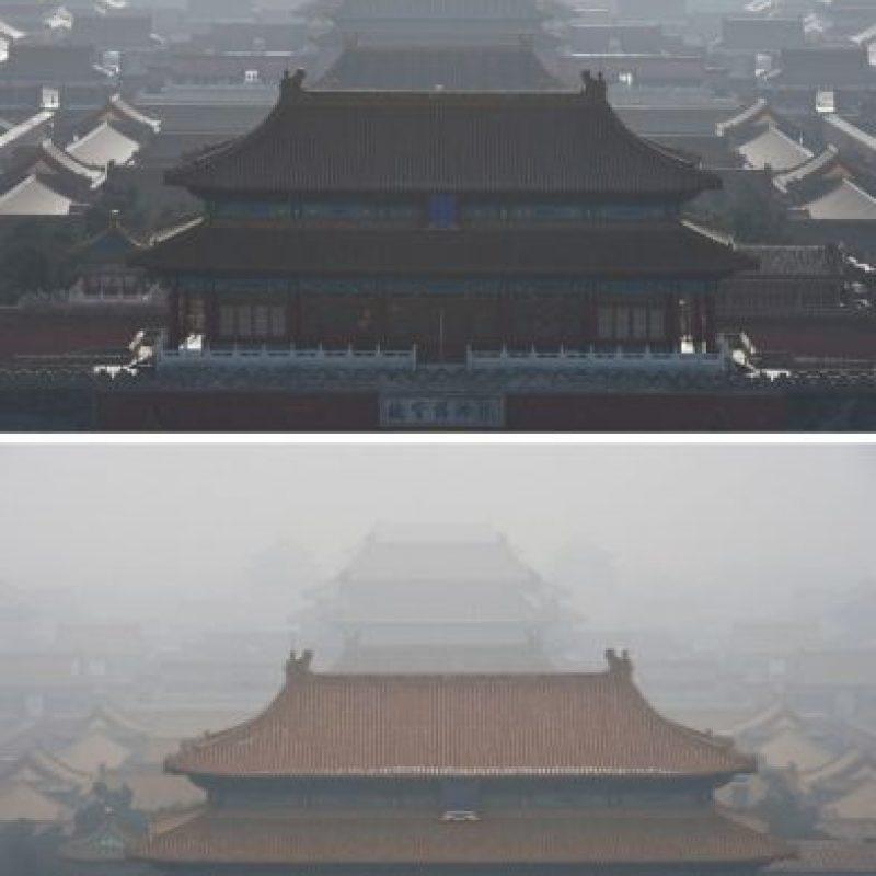 """Así lucieron zonas como """"La Ciudad prohibida"""" Foto:AFP"""