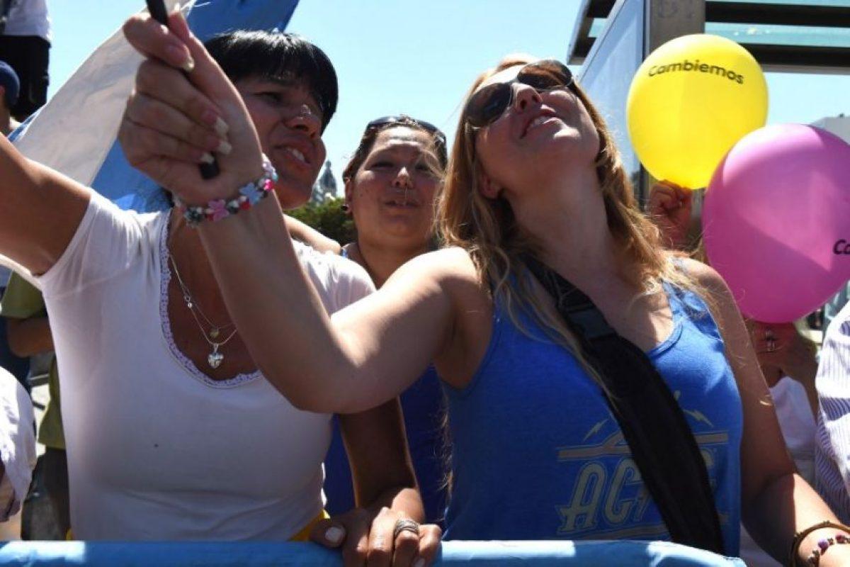 Mientras en las calles hubo celebraciones Foto:AFP