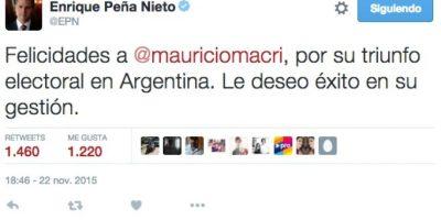 Enrique Peña Nieto, presidente de México Foto:Twitter.com