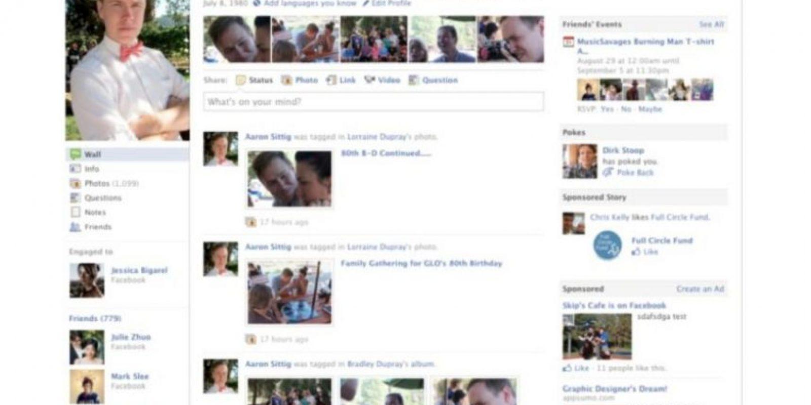 2010. Comienza la estilización del perfil para lucir de mejor manera. Foto:vía Facebook.com