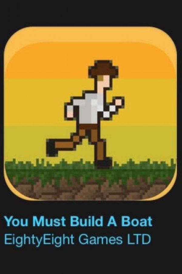"""9- """"You Most Build A Boat"""". Cuesta tres dólares. ¿Así que creen que son buenos en un juego? Es hora de poner esas habilidades a prueba. Foto:vía Apple"""
