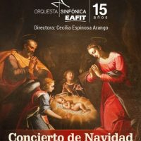 Concierto de Navidad, villancicos, velitas y aguinaldos, con la orquesta sinfónica EAFIT, bajo la dirección de Cecilia Espinosa Arango. Foto:Cortesía: EAFIT