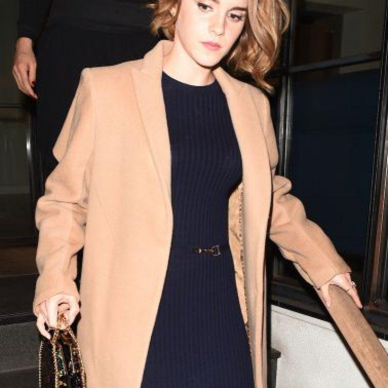 """Así lució Emma Watson durante la presentación del documental """"The True Cost"""" en Londres, Inglaterra. Foto:Grosby Group"""