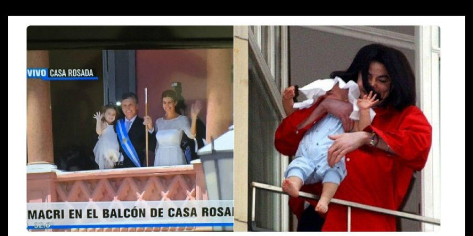 Se burlaron de la presentación de su familia en el balcón de la Casa Rosada Foto:Twitter.com
