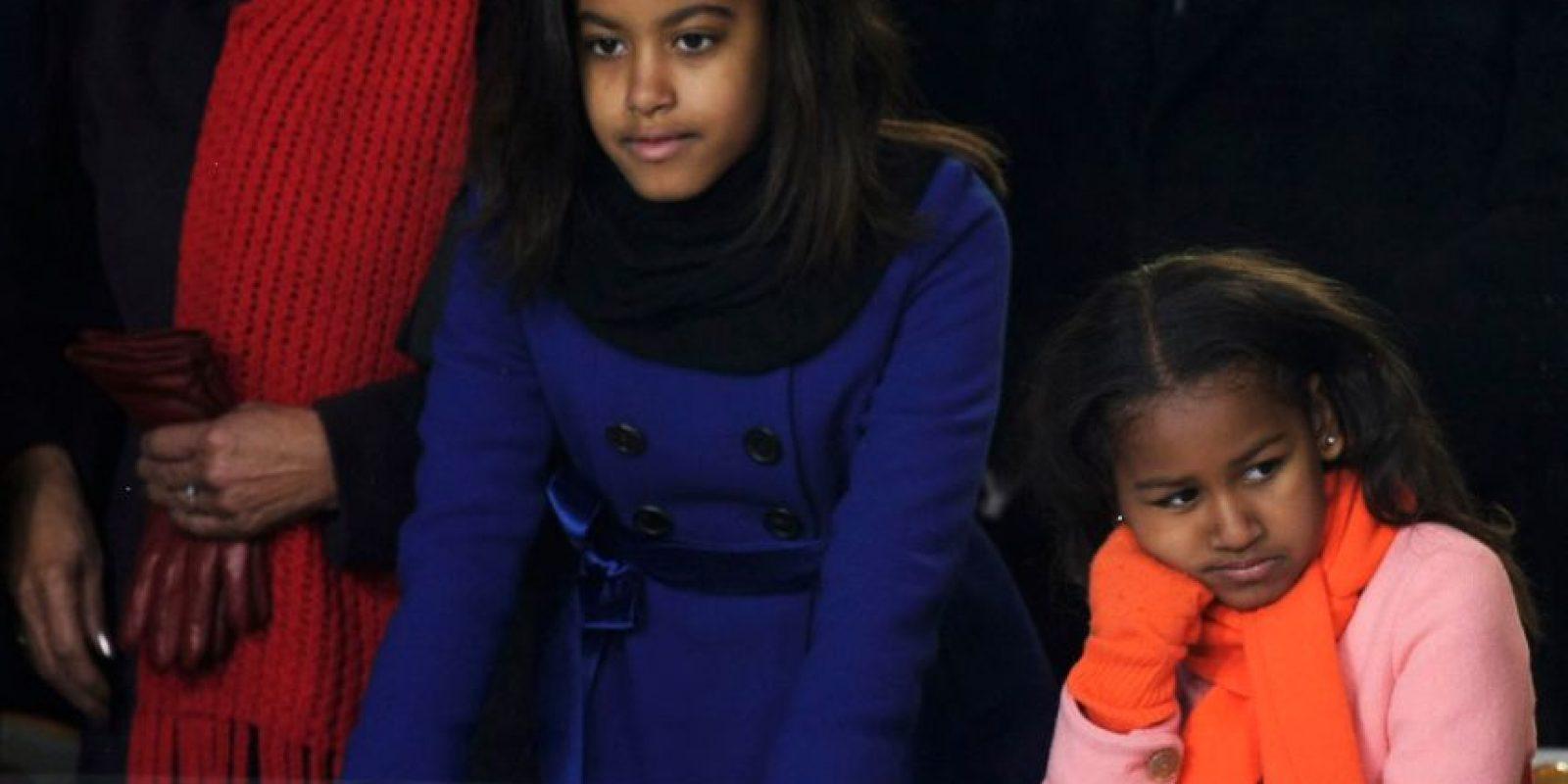 20 Images Of Sasha and malia inauguration pictures
