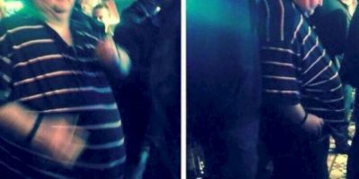 Este hombre fue avergonzado por bailar en un concierto. Todo por su peso. Foto:vía Twitter