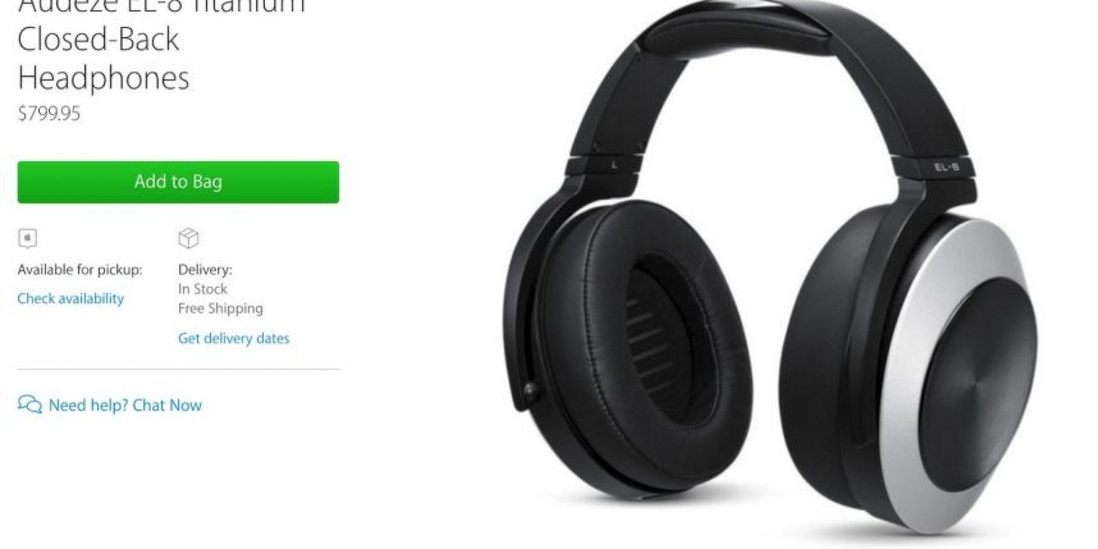 Audeze EL-8 Titanium Closed-Back Headphones cuestan casi 800 dólares. Foto:Apple