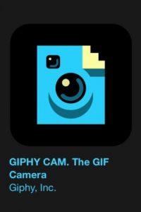 """21- """"Giphy Cam"""". Es gratuita y les permite crear imágenes con formato GIF. Foto:Apple"""
