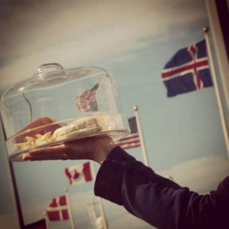 Hjorter Smarason fue la consumidora que decidio conservar en buen estado la hamburguesa antes del albergue. Foto:Vía instagram.com/bushostel/