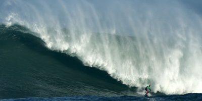 Competencia de surf en España. Foto:AFP