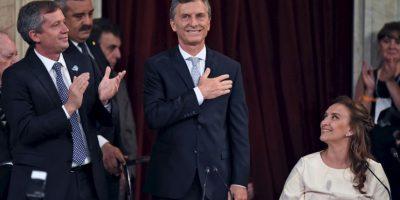 Mauricio Macri, en su ceremonia de toma de posesión como presidente de Argentina. Foto:AFP