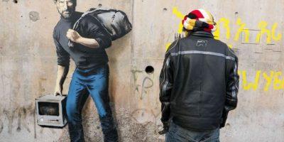 Steve Jobs como el hijo de un migrante de Siria. Foto:vía banksy.co.uk