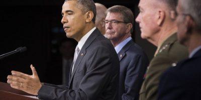 El mandatario aseguró que desde noviembre la coalición intensificaron los ataques contra el EI. Foto:AFP