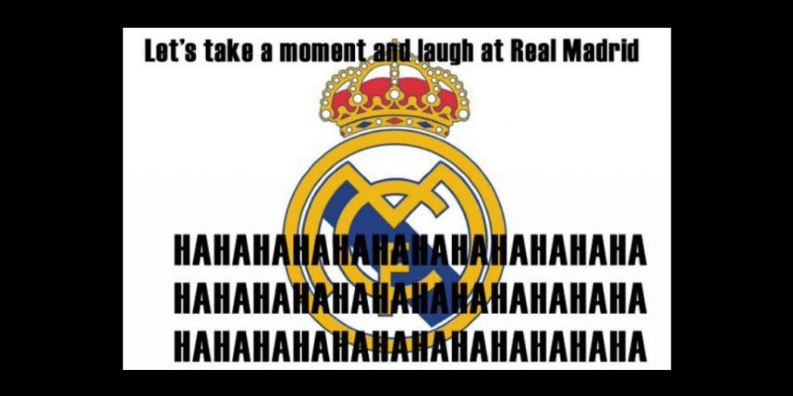 Lo cierto es que cada caída del Real Madrid genera muchas risas entre sus detractores. Foto:Vía twitter.com