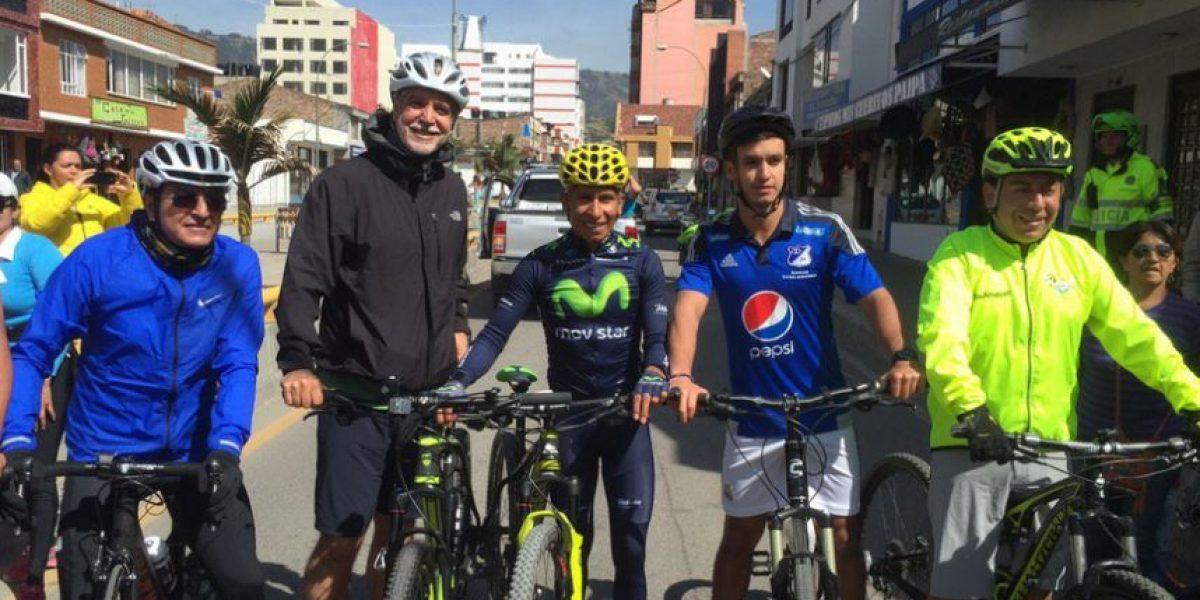 FOTOS: La carrera de Peñalosa con Nairo Quintana