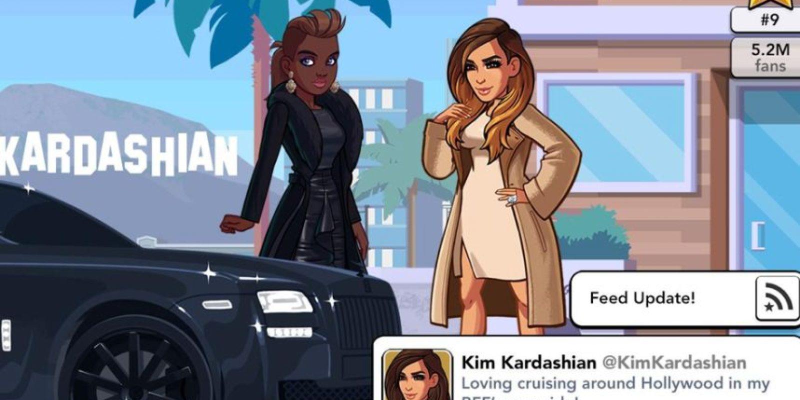 Ha hecho solo 85 millones de dólares con la app. Foto:vía Kim Kardashian Hollywood