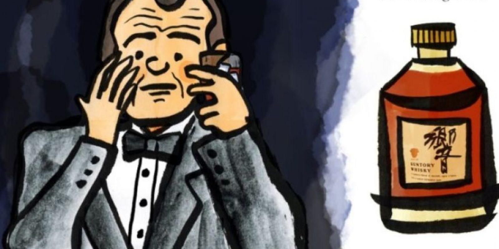 """Basta raspar en una página y oler el whisky del personaje de Murray de """"Perdidos en Tokio"""". Foto:Sugai Books"""