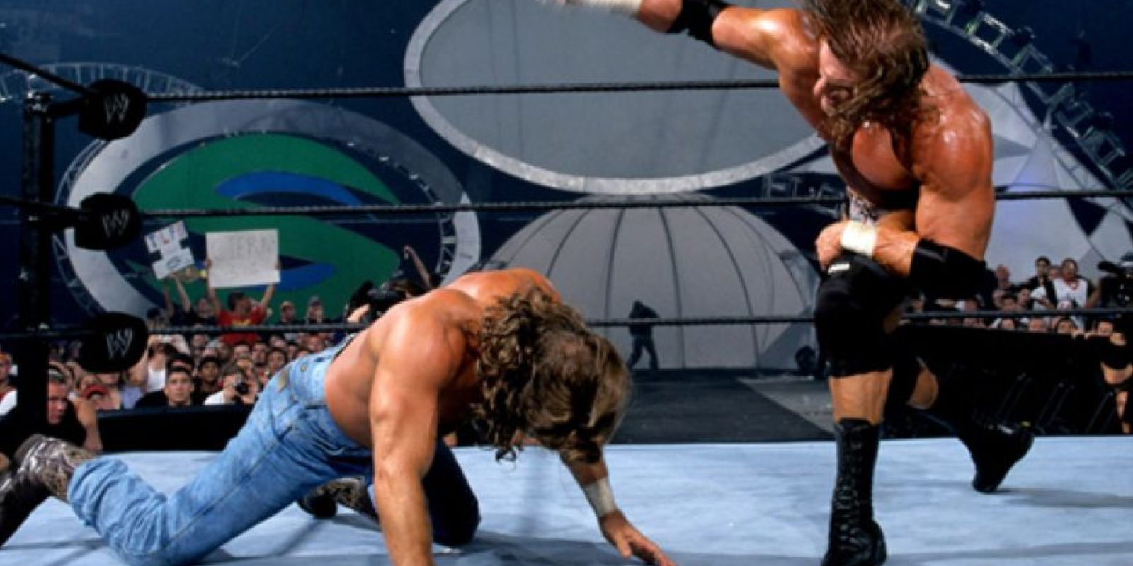 Shawn Michaels vs Triple H, en Summerslam 2002 Foto: WWE