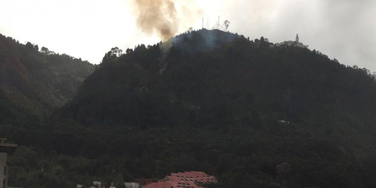 IDIGER reporta incendio forestal en los cerros de Monserrate