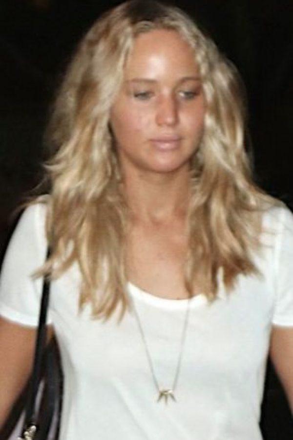Jennifer Lawrence sin maquillaje Foto:The Grosby Group