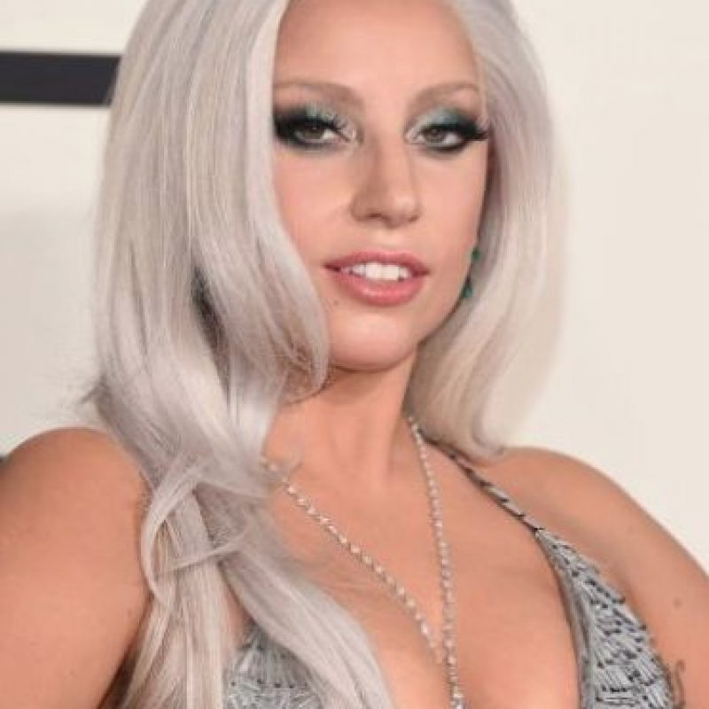 Lady Gaga con maquillaje Foto:Getty Images