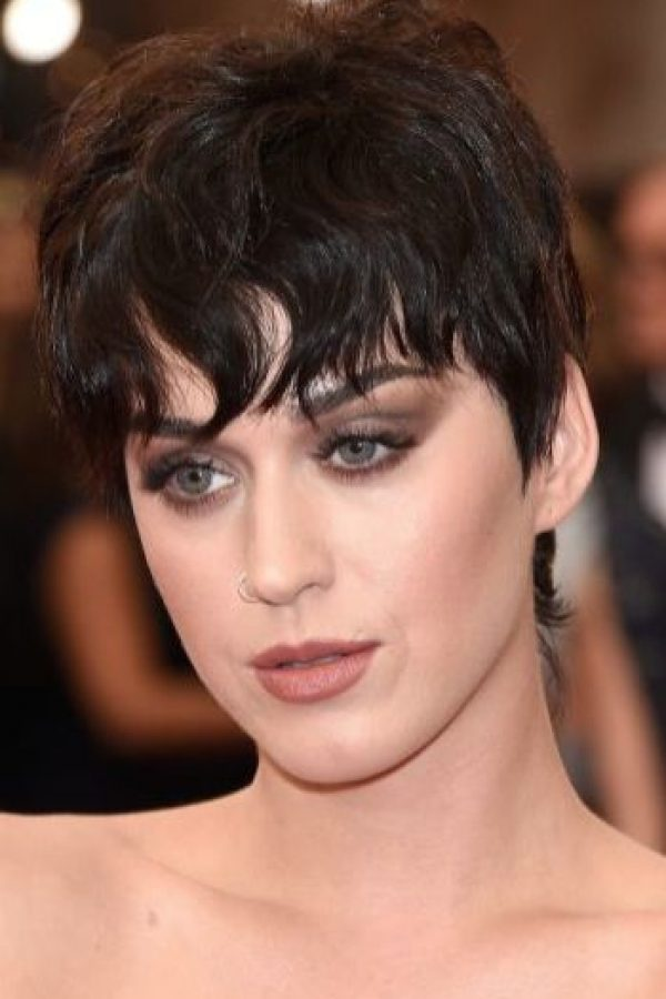 Katy Perry con maquillaje Foto:Getty Images
