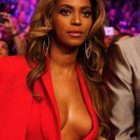 Beyoncé con maquillaje Foto:Getty Images