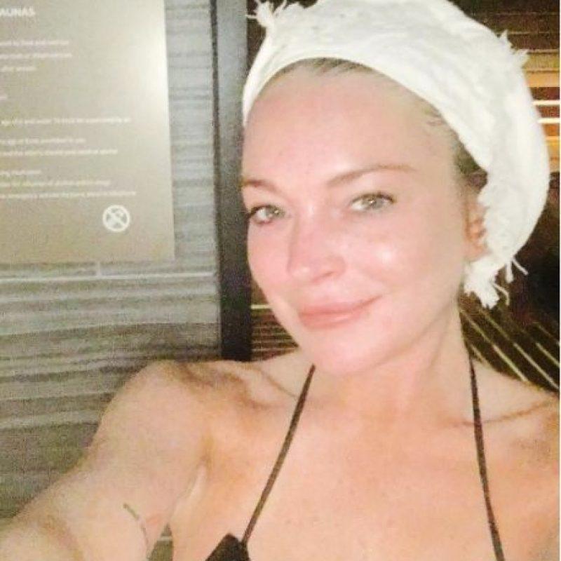 Lindsay Lohan sin maquillaje Foto:vía instagram.com/lindsaylohan