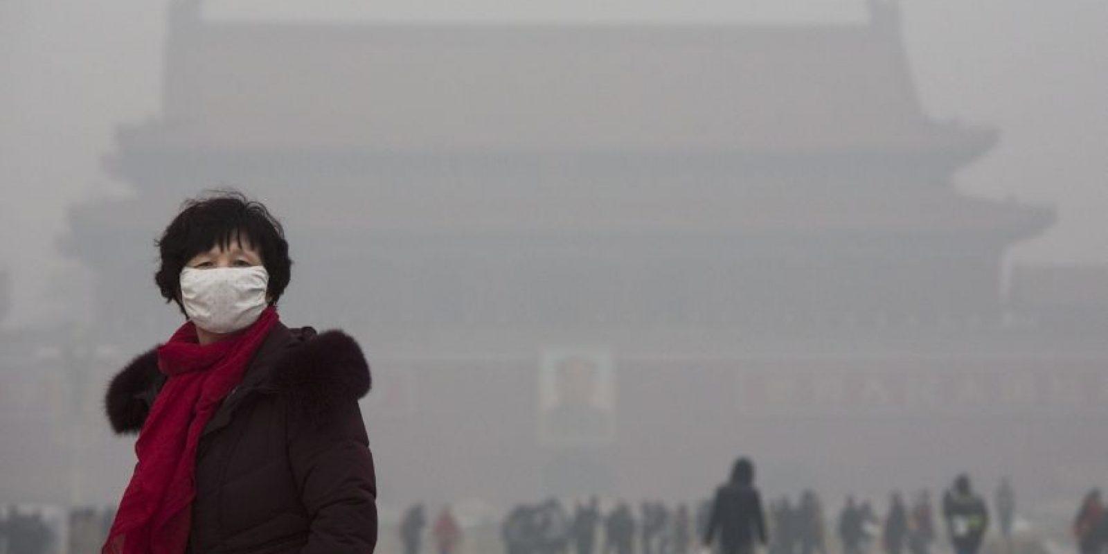 """13 veces más que los 25 microgramos por metro cúbico de aire que la Organización Mundial de la Salud establece como """"seguro"""". Foto:Getty Images"""