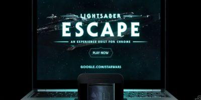 Así luce el experimento de Google para transformar su smartphone en un sable de luz. Foto:Google Chrome