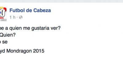 Foto:Captura de pantalla Facebook 'Fútbol de Cabeza'.