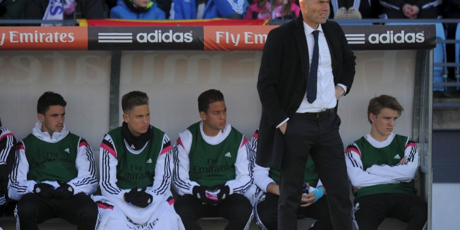 """""""Zizou"""" ahora es el DT del Real Madrid Castilla, filial de la segunda división B Foto:Getty Images"""