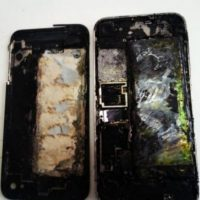 5) iPhones incendiados. Foto: Getty Images