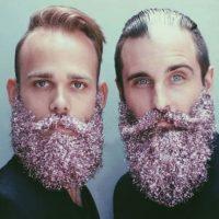 Barbas con escarcha. Foto:vía Instagram