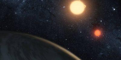 En la vida real el planeta Kepler-16b Foto:Vía nasa.gov