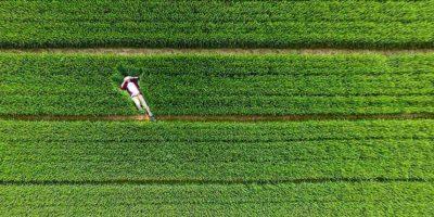 Sobre el embalse de Xiwe, Zoucheng, Shandong, China. Foto:Vía Dronestagr.am