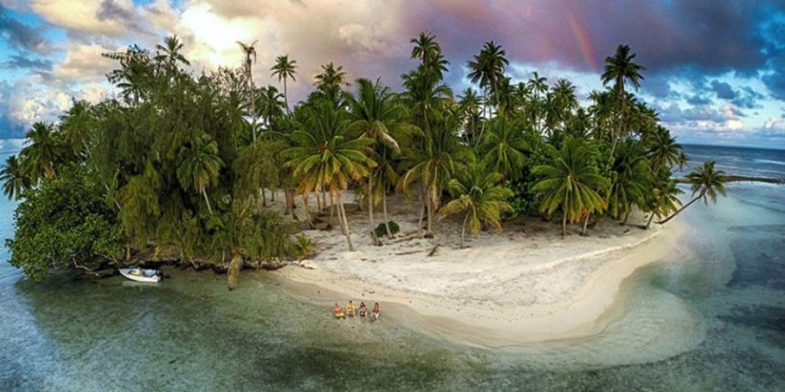 Isla perdida Foto:Vía Dronestagr.am